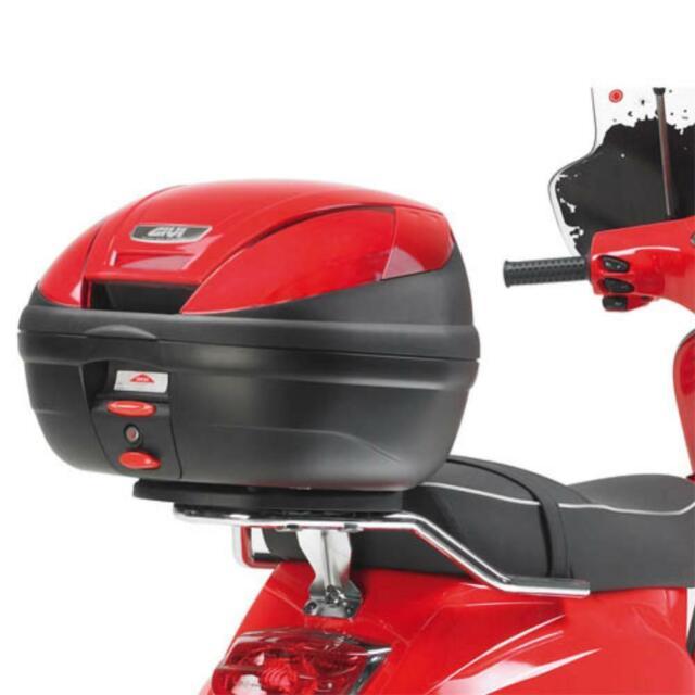 SR105 PIAGGIO VESPA LX 150 2005  2014 MONOLOCK MOTO SCOOTER BAULETTO BAULE VALIGIA POSTERIORE GIVI CATADRIOTTI NERI 30LT E300NT2