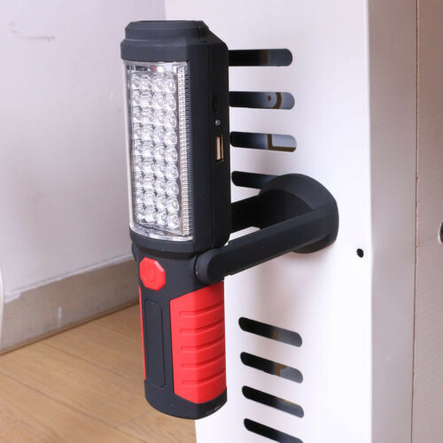 36+5LED Magnetic Work Light USB Rechargeable Flashlight Inspection Lamp Torch
