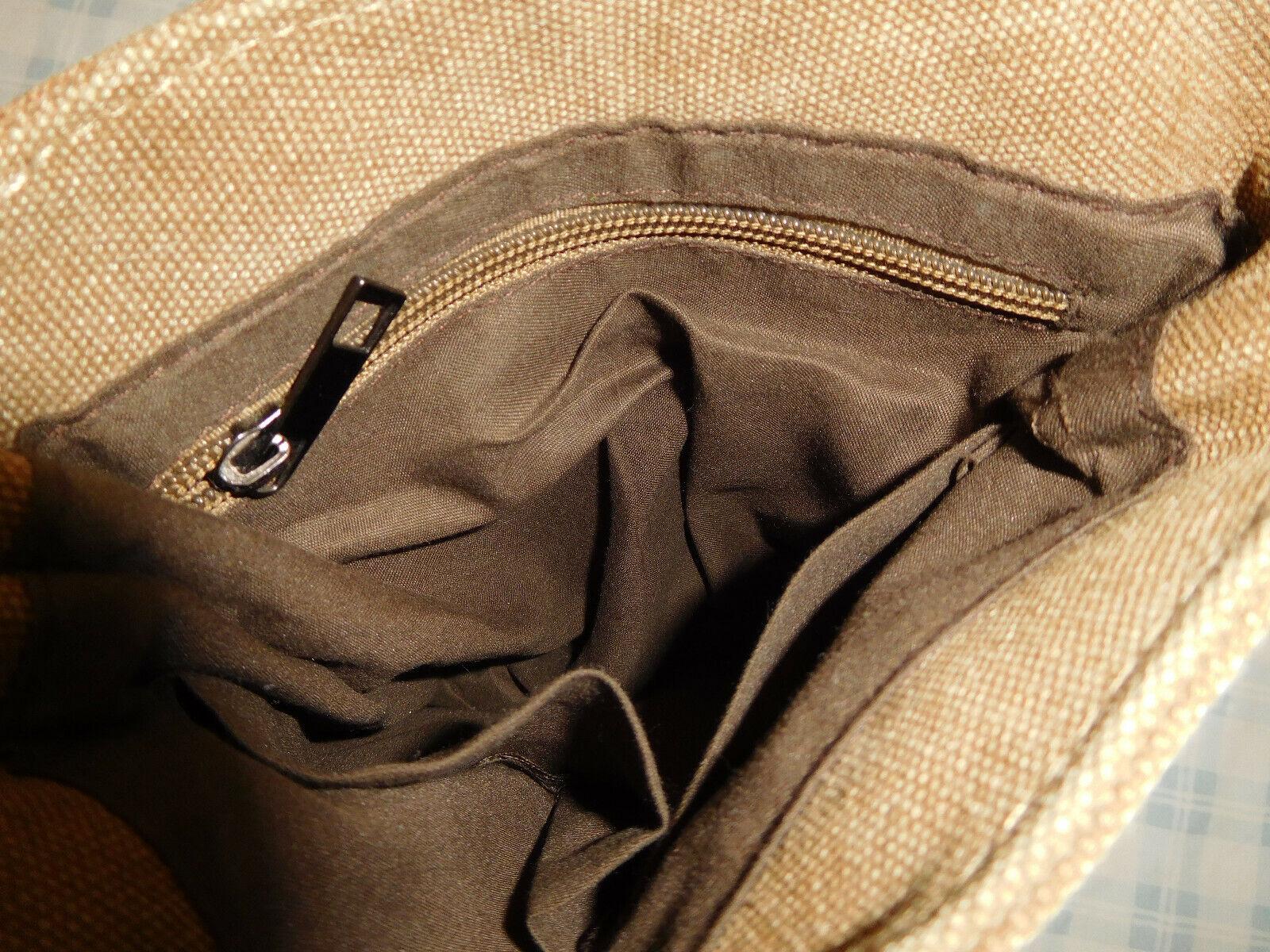 Berchirly Brown Tan Canvas Crossbody Shoulder Bag… - image 4