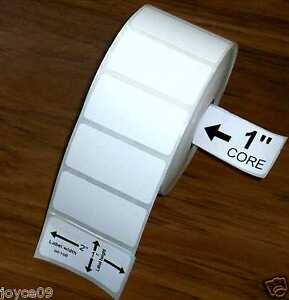 3 rolls 2x1 direct thermal premiumtop coated 2 x 1 labels for