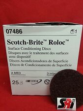 "3M Scotch-Brite Roloc Surface Cond. Disc, 3"", 07486 MED"