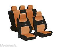 Colori orange schwarz für VW Polo / Cross Polo Schonbezug Sitzbezüge Sitzbezug