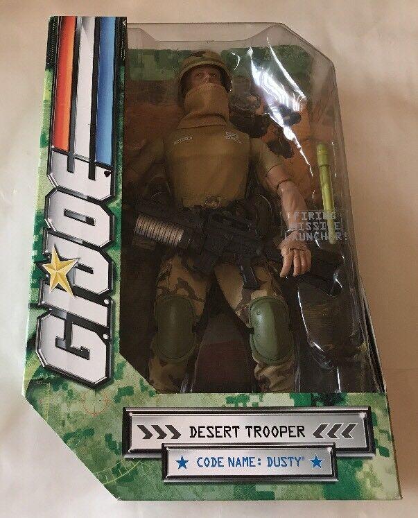 "Hasbro G.I. Joe 12 Desert Trooper Dusty with Firing Missile Launcher   ""nuovo"""
