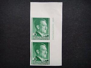 Germany Nazi 1941 1942 1943 Imperf Stamps MNH Adolf Hitler Poland under German O