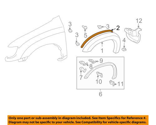 TOYOTA OEM 00-06 Tundra Fender-Wheel Flare Gasket Seal Pad 538510C030B0