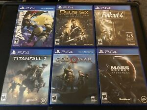 PS4 Game Lot/Bundle - Deus Ex, Fallout 4, God Of War, Gravity Rush 2, Etc.