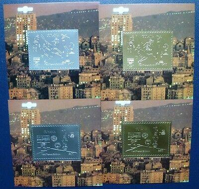 Briefmarken Tiere Guyana 1992 Genua Dürer Formel I Raumfahrt Tennis Pilz Silber Gold Block 175-192 Ungleiche Leistung
