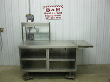 57 X 34 Stainless Steel Heavy Duty Cabinet Work Prep Table With Sneeze Guard