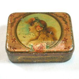 Antique-1912-16-American-Ideal-California-Perfume-Co-Soap-Tin-Litho-Hinged-RARE
