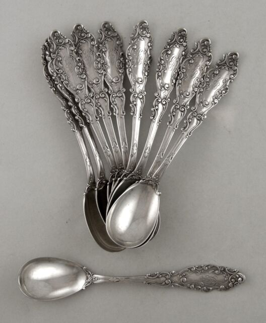 Sterling Gorham LUXEMBOURG egg spoon - set of 10