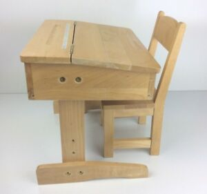 Image Is Loading RARE My Twinn Wooden School Desk And Chair