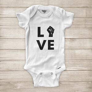 Love-Black-Lives-Matter-Raised-Fist-Symbol-BLM-Equality-Baby-Infant-Bodysuit