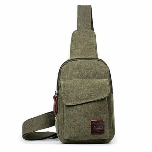 US Men Women Shoulder Bag Sling Chest Pack USB Charging Sports Crossbody Handbag