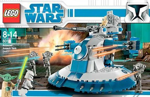 LEGO STAR WARS 'ARMOUROT ASSAULT TANK (AAT)'  8018 YODA 100% COMPLETE GUARANTEE