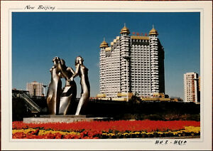 New-Beijing-City-Statue-and-China-Tourism-Mansion-Zhang-Suoan-Photograph-Postca