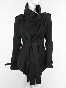 Details about STUNNING WOMEN ALL SAINTS LIDO NAHARA JACKET COTTON TRENCH COAT MAC BLACK 8 £225