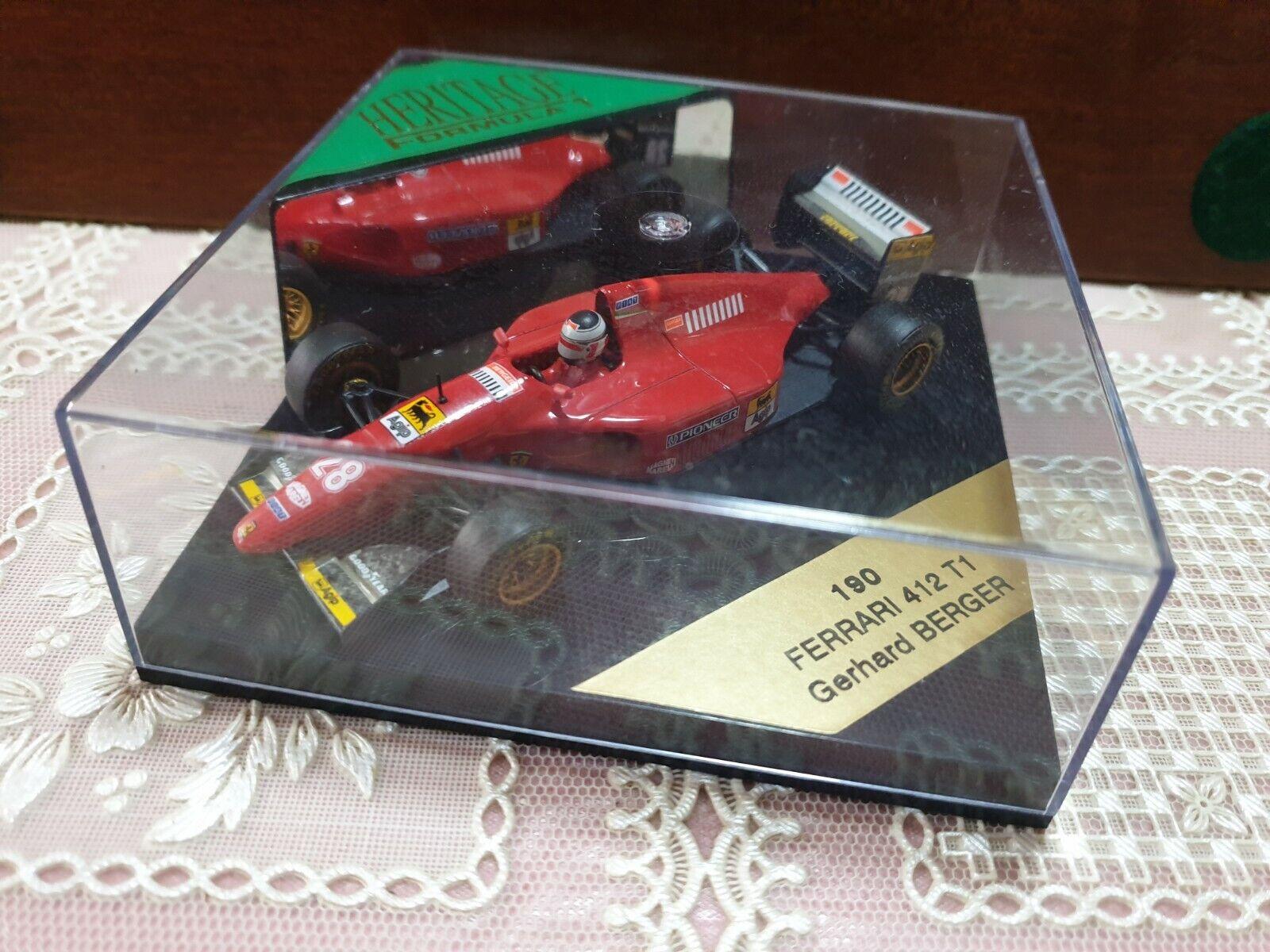 Model Ferrari 1 43 Ferrari 412 T1 Gerhard Berger 1994 Quartzo