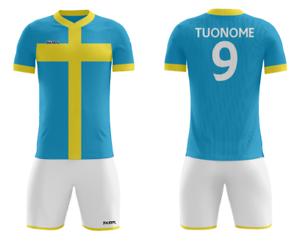 FOOTEX Completo ITALIA Calcio Personalizzabile Nome Numero Gratis Colore Giallo