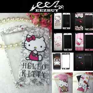 Cartoon-Hello-Kitty-Tempered-Glass-Screen-Protector-Front-amp-Back-For-Ap-iPhone