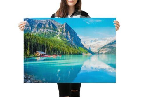 A1 Lake Louise Banff Canada Poster Art Print 60 x 90cm 180gsm Cool Gift #14918