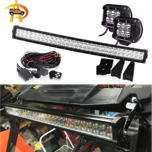 30 32 Curved LED Light Bar FOR Polaris RZR 900 1000 2700 RZR 800 Grill RZR4 XP