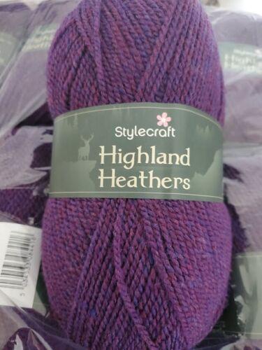 Stylecraft Highland Mocrylic dk punto tejer hilado de acrílico Premium 100g * Nuevo