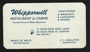 Vintage business card prince of wales new brunswick whipporwill image is loading vintage business card prince of wales new brunswick colourmoves
