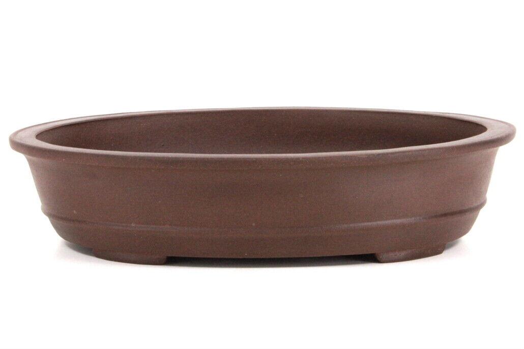 Bonsai-Schale 41×32×10 cm antik-braun oval unglasiert frostfest