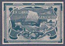 Ex Libris Bookplate for Carl Langenscheidt