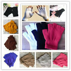 New 10 Color Free Unisex Fashion Magic Weave Fingerless Half Finger Gloves