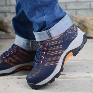 Fashion-Men-039-s-Steel-Toe-Safety-Work-Shoes-Breathable-Sneakers-Hiking-Boots-Shoes