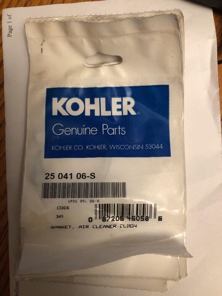 25 041 06-S 2770 Replaces Genuine Kohler Engines Gasket Air Cleaner Elbow