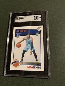 2019-20 Ja Morant Panini NBA Hoops #297 RC SGC 10 💎 Gem Mint Grizzlies  Tribute