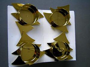 4 st ck kerzenhalter f r adventskranz kerzen halter mit spie tannenbaum gold ebay. Black Bedroom Furniture Sets. Home Design Ideas