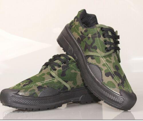Men/'s Casual en Toile à Lacets Travail Camo militaire Combat Baskets Chaussures Neuf Sbox14