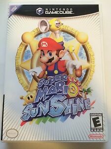 Super Mario Sunshine Gamecube Replacement Case No Game Ebay