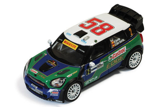 IXO RAM469 MINI COUNTRYMAN JCW diecast model rally car Monza Rally 2011 1 43rd