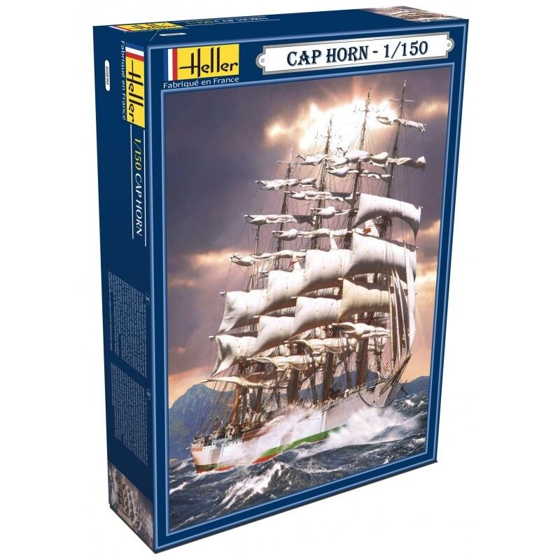 Heller 80890 1 150th scale Cap Horn 5 Masted Sailing ship