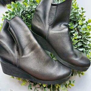 Arche-SZ9-Black-Leather-Wedge-Ankle-Boots-Womens-French