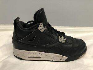 e9cf8cf54fd4ca GS Air Jordan Retro 4 IV Black Tech Grey 408452-003 Oreo Cement 2015 ...
