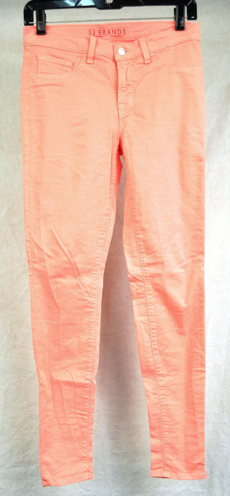 J Brand 811 Skinny Leg Coral Pink Pants 27 USA Womens