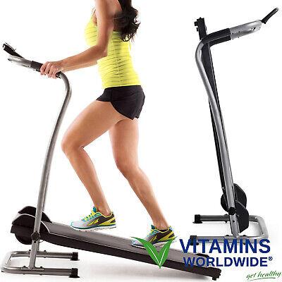 folding manual treadmill portable running gym fitness