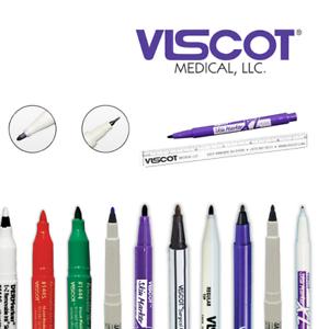 Details About Viscot Surgical Skin Marker Pen Tattoo Piercing Prep 9 Colour Nib Options