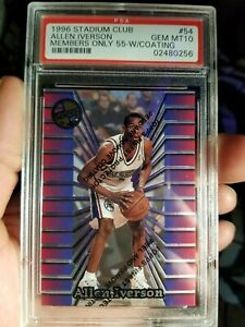 1996-allen-iverson-rc-topps-stadium-club-members-only-55-psa-10-with-coating