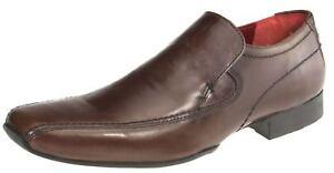 Red-Tape-POIREAU-marron-a-enfiler-cuir-chaussures-homme-bout-carre-bureau