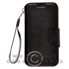 Motorola Moto X XT1055/XT1060 Deluxe Wallet Pouch with Strap Black Case Cover