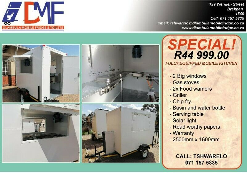 Mobile Kitchen/Food Warmers/Trailers For sale