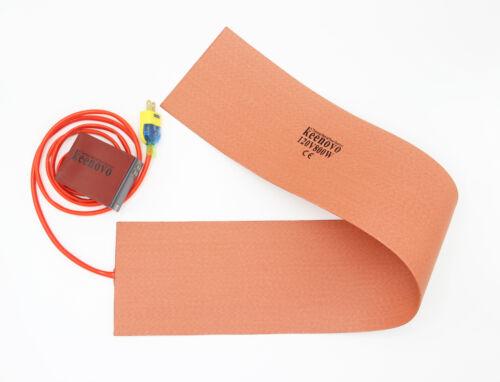 "6/""X36/"" 800W 120V Guitar Side Rim Bending Press Silicone Heater BlanketKEENOVO"
