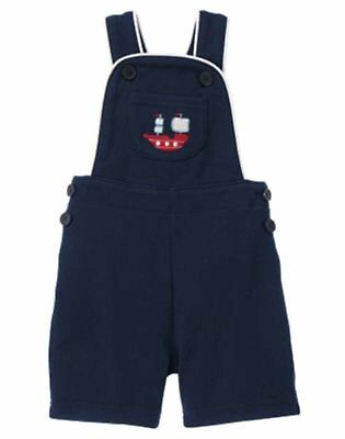 Gymboree First Matey Baby Boy One Piece Shortall Bib 3 6 NWT Retail Store