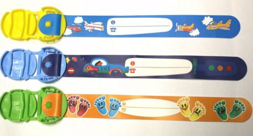 3 per pack child safety wrist band kids infoband waterproof reuseable wristband